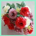 flores artificiais de látex rosas de seda