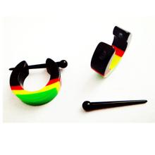 2014 Fashion Style Earring Gay Rainbow Fake Ear Plug Body Piercing Jewelry SMER42201