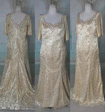Jm. Bridals Gerçek örnek hy228 kraliyet shealth boncuklu dantel şampanya annesi gelin elbiseler 2014