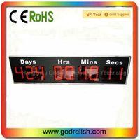 9 digit 7segment led light digital wall clock