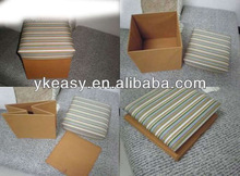Foldable Storage Stool Box