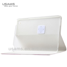 Original USAMS smart 360 degree rotating stand pu leather case for ipad air/5