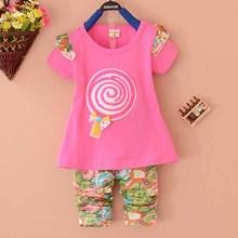 Sweet lollipop design baby girl clothing fashion organic cotton baby clothing wholesale price