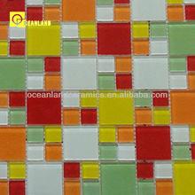 modern green glass mosaic tile art of diy tiling