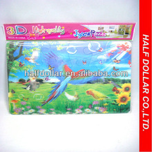 various 3D jigsaw puzzle/card paper educational jigsaw puzzle games for kids