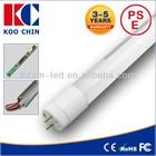 PF>0.95 360 degree rotatable end cap 85-265vac internal isolated driver led tube t8 150cm