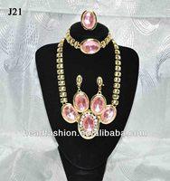 2014 indian pink world imitation jewelry set