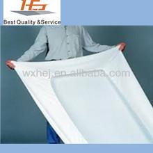 Factory direct sale 100% cotton cheap white plain hospital bed mattress cover