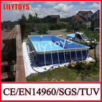 swimming pool 10x12x1m steel frame PVC pool