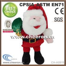 2014 promotional Christmas Santa Claus soft toys