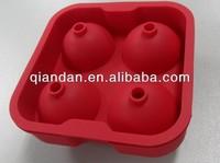 novel silicone ball shaped ice cube tray