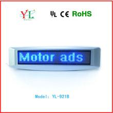 new design 12v hanging scrolling text led car window message sign