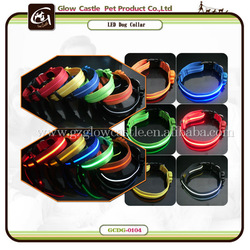 Glow Castle Round Electronic Flash Dog Collar