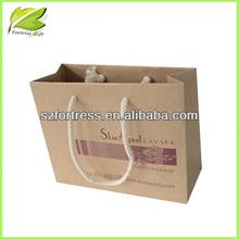 Factory price printing brown shopping craft paper bag
