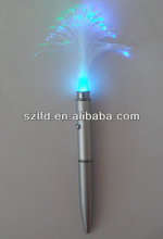 Fiber-optic glowing pen , glow in the dark fiber optic light pen,projector ballpointpen