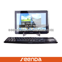 Latest Design Bluetooth Keyboard Touchpad for Samsung Tablet