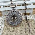 baratos antiguo reloj de bolsillo mecánicos en a granel con la cadena de aleación de reloj mecánico de fábrica precio de la plata