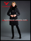 2014 Latest Real Fur Fashion High Quality Women Winter Shiny chiffon evening dress