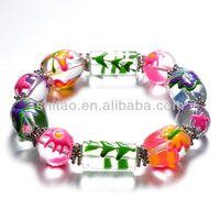 Handmade Glass Butterfly Easter Day Style Stretched Bracelet