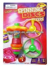 Plastic color flying disk gun toys