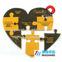 high quality heart-shaped fridge magnet jigsaw puzzle
