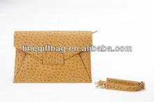 High Quality Ostrich Bag Genuine Leather female high quality shoulder bag
