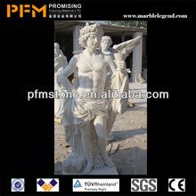 Main spéléologie de style occidental blanc, gros statues hindoues& extérieur pour la décoration intérieure