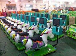 Mini crazy horse 17 inch LCD arcade attractive kiddy ride horse