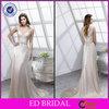 Sheath Cap Sleeve Button Back Appliqued Crystal Sash Western Wedding Bridesmaid Dresses(ED-W150)