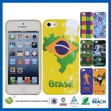 C&T Brazil world cup pattern hard case shell for iphone 5