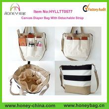 2014 Hot Red Stripe Canvas Tote Shoulder Bag Stripe Canvas Diaper Bag