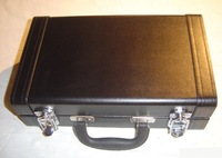 MC-002 Clarinet Case, quilted leather case, leather liquor case