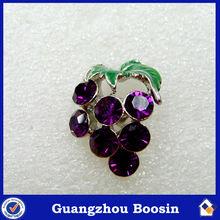 Purple Rhinestone Crystal Grape Brooches Costume Jewelry #5648