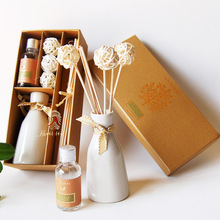 wholesale reed diffuser supplier ,aroma reed diffuser ,ceramic fragrance reed diffuser with rattan ball