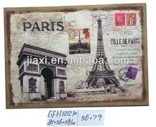 Printed Paper Wood Paris Triumphal arch design Wall Art
