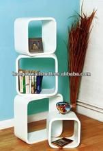 Set Of 4 White Retro Storage Cube Shelves,regal living room furniture