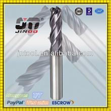 2014 JINOO CNC Lathe High Precision 4 Flutes Extra Long Flat End Mills Cutting Tools