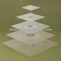 promotional magic plastic acrylic round cake stand