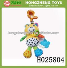 Venta al por mayor caliente china , suave de la muñeca musical juguetes de peluche, Divertido bebé de la campana oso con el sonido de la vibración juguete de la educación H025804