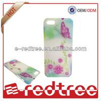 Beautiful flower printing tpu crystal diamond tpu cases for iphone 4