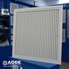 AL square hinged Half Chevron return air grille with c/w filter for industrial HVAC / ventilation made by China manufacturer