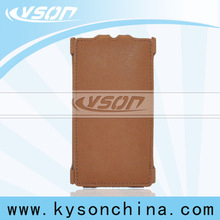 Guangzhou factory brown mouse grain pu leather case for nokia x2-01
