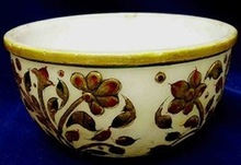 Carved Painting Stone Bowl