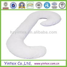 Factory Soft White 100% Cotton Microfiber Snoogle Body Pillow