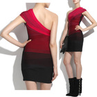 ONE SHOULDER PENCIL BODYCON BANDAGE EVENING PARTY SEXY CLUB DRESS