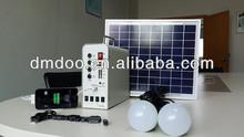 Off gird 12v DC 10w solar home energy lighting system cell phone usb charger sunlight lighting adjustable angle mount bracket
