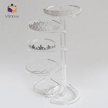 Modern acrylic jewelry decoration shop counter design idea manufacture