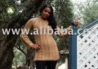 Light Brown Peruvian 100% Hand Knit Alpaca Wool Sweater