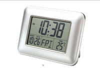 digital lcd table clock with stop watch
