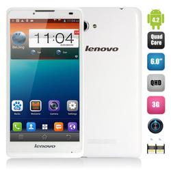 6 Inch Smartphone MTK6582M Quad Core 1.3GHz 1GB RAM 8GB ROM 5.0MP Camera 3G WCDMA GPS Android 4.2 Lenovo A880